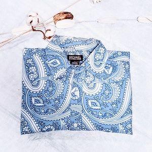 MICHAEL Michael Kors Shirts - Michael Kors Paisley-blue button down L🦅